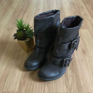 MIA Corporal Brown Ankle Boots